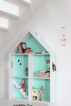 wood and mint doll-house