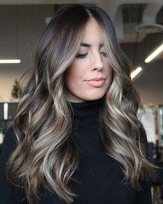 Brown Hair Balayage, Hair Color Balayage, Hair Highlights, Ombre Hair, Ash Brown Bayalage, Balyage Long Hair, Light Brown Hair, Dark Hair, Hair Color And Cut