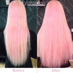 Pastel and Bright Hair Colors Inspirations from Beauties and Celebrities @feelingsarepink on instagram has pink pastel hair, and wants to add more length and volume with hair extension from Vpfashion. Here final look is amazing and elegant.  Join Our Instagram with @VP Fashion or #vpfashion.