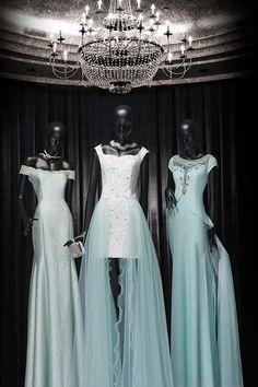 2016 ve 2017 için Butik dayı Abiye Elbise Modelleri - Buz Mavisi