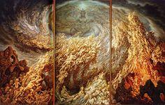 """Johfra Bosschart: """"The Adoration of Pan"""" triptych (1979)"""