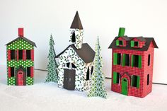 Liz Qualman Designs: Christmas Village from Little Yellow Bicycle