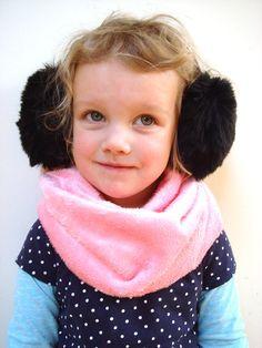 Winter kids scarf infinity scarf winter by RainbowMittens on Etsy,