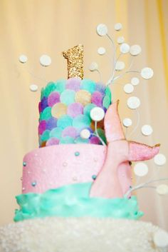 Under The Sea Mermaid Soiree Birthday Party Ideas Little Mermaid Birthday, Little Mermaid Parties, 4th Birthday Parties, Birthday Fun, Llama Birthday, Birthday Cake, Birthday Ideas, Jasmin Party, Gateaux Cake