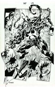 Mark Bagley - Ultimate Spider-Man 37 pg. 19 (1st Ultimate Venom!)