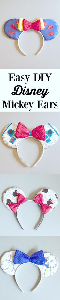 Easy DIY Disney Mickey Ears- this tutorial is super easy to follow. Easiest Mickey Ear Tutorial I have seen.