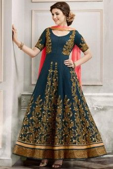 Blue Silk Fabric Heavy Designer Party Wear Indian Anarkali  #silksuit #bridalwear #fancy #traditional #designersuit #gown #anarkali #lehengacholi #choli #fancy #bridal #australia #punjabidress #dress #wedding #partywear #style #fancy #bride #gulzar #modelsuit #salwar_kameez #kameez #choli #gebastore #casualwear #printedsuit #dress_material #canada #london #saudi #uk #usa #navyblue_dress #embroidredsuits #pakistanisuits #patialasuits #straightsuit #indiandress #weddingdress #party_suit