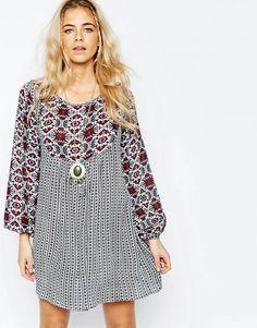Boohoo | Boohoo Mixed Print Swing Dress at ASOS