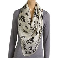 Alexander McQueen Skull Scarf--wanted one of these for about 2 years, it's about time!