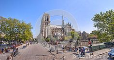 Walking near Notre Dame de Paris. France