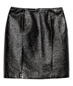Rok met coating | Zwart | Dames | H&M NL