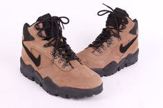 Vtg 1994 Nike Acg Leather Hiking Boots Shoes Mens Size 8