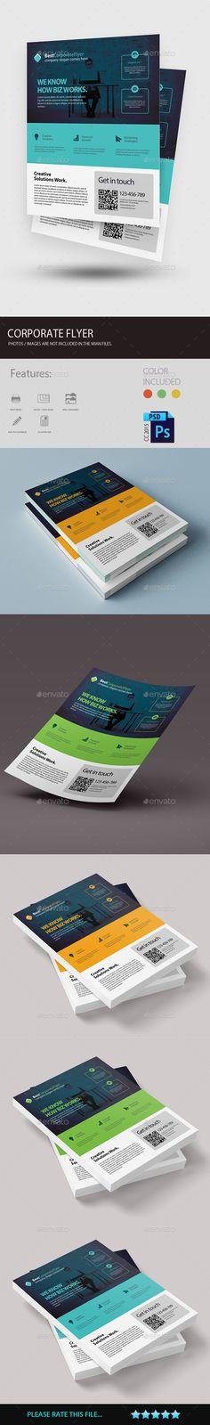 Corporate Flyer by amirgraphix EASY TO EDIT Clean and well organized flyer template. You can confidently get best results in the very less time.Features •Print R