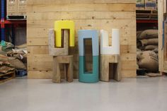 Australian designer Darcy Clarke. #stools #seating #colour #simple #design #quirky
