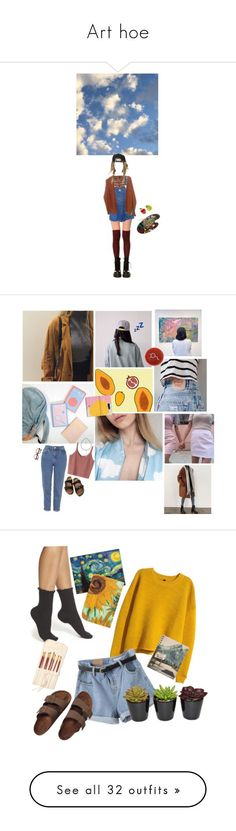 """Art hoe"" by normanfrida ❤ liked on Polyvore featuring K. Bell, Doncaster, Calvin Klein, American Vintage, Nearly Natural, King Apparel, Dollhouse, Keen Footwear, Topshop and Retrò"