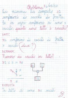 Didattica Scuola Primaria: Problema, operazioni in colonna, numerazione, equi... Bullet Journal, Math Word Problems, Classroom, School