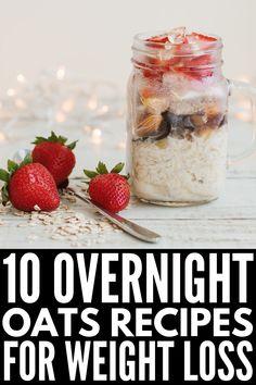 overnight oats in a jar - overnight oats & overnight oats healthy & overnight oats in a jar & overnight oats recipe & overnight oats healthy clean eating & overnight oats healthy easy & overnight oats peanut butter & overnight oats with yogurt Weight Loss Meals, Weight Loss Drinks, Mason Jar Meals, Meals In A Jar, Mason Jars, Mason Jar Recipes, Healthy Drinks, Healthy Snacks, Healthy Recipes