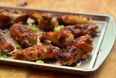 Honey Bagoong Chicken Wings are drumettes marinated in honey-bagoong alamang mixture and then baked in the oven for truly unique Pinoy flavors