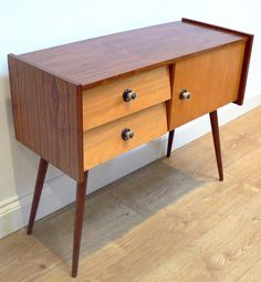 1960s FRENCH CABINET SIDEBOARD DRAWERS UNIT - 50s 70s retro vintage mid-century in Home, Furniture & DIY, Furniture, Cabinets & Cupboards | eBay