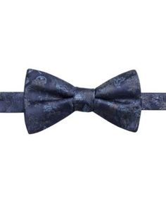 Ryan Seacrest Distinction Men's Trent Floral Pre-Tied Silk Bow Tie, Created for Macy's - Blue