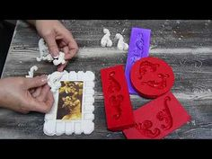 Mix Media, Mixed Media Collage, Bookends, Stencils, Polymer Clay, Youtube, Home Decor, Craft Videos, Diy Projects