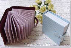 Origami Book - Tutorial - super easy and super cute little books.