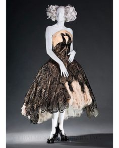 Remembering the late, great Alexander McQueen on the 7th anniversary of his death.  Peacock evening dress, The Girl Who Lived in a Tree autumn/winter 2008-9. FIDM Museum