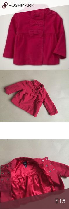 Baby Gap Roman Getaway Holiday Red coat Beautiful dressy  jacket with bows. Will be great addition to holiday wardrobe!! Baby Gap Dresses