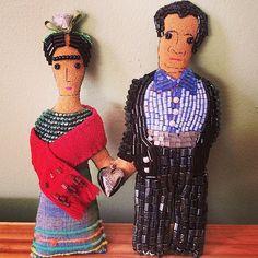 Diego & Frida handmade, beaded dolls by Fridadolls, 2014