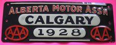Alberta Motor Ass'n Calgary 1928 - AAA - AA