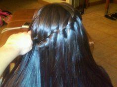 My waterfall braid :)