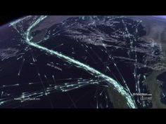 This Map Of A Week's Worth Of Global Shipping Traffic Is Mesmerizing