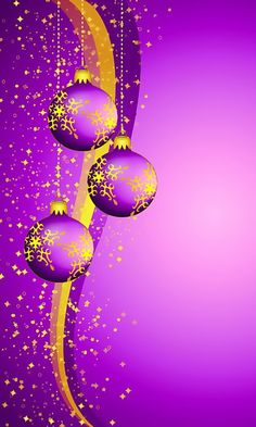 Download 480x800 «Christmas Purple Balls» Cell Phone Wallpaper. Category: Holidays