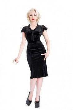 Voodoo Vixen Black Lace Classic Dress