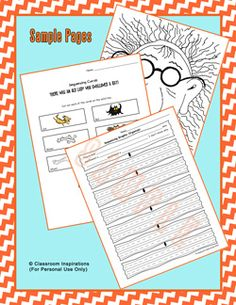 "Oh what fun!  I love fall and everyone loves these books.  Kids can ""feed"" the old lady, sequence both books and then use the graphic organizer to write their own story. $ www.classroominspirations.com"