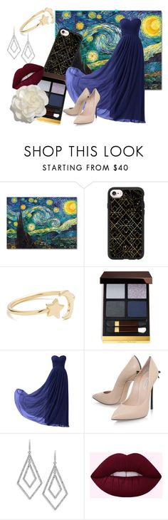 """""""My crush is too cool for me"""" by clemonycookies ❤ liked on Polyvore featuring Casetify, Ariel Gordon, Tom Ford, Remedios, Casadei, ABS by Allen Schwartz and Cara"""