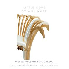 Inspired by Will's favourite surf spot, this modern avant-garde chair captures the rolling waves and the pearly shores of this beautiful cove in Australia. Handmade from Hoop Ply, PVC, Mother of Pearl, paint & lacquer, this stunning chair is a visually powerful statement piece for the home. Worldwide shipping available. Every furniture comes with a 10 year warranty on construction. If you are interested in having a custom made fine furniture by Will Marx, pls contact Will on…
