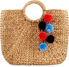 Neiman Marcus Alyson Large Straw Tote Bag