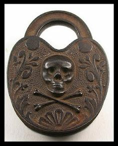 Pirate padlock. Maybe. It was made in the 1890's anyway... Perhaps it kept a treasure chest safe and secure?