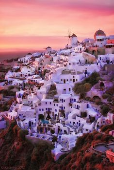 Good night to the village of Oia in Santorini, Greece. - Photograph at BetterPhoto.com