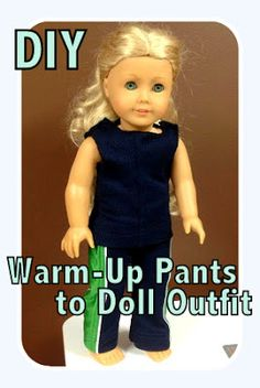 {Repurpose} Warm-Up Pants into an American Girl Outfit - All Things With Purpose