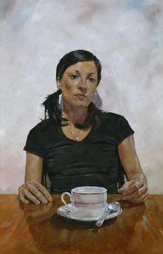 BP Portrait Award: Amanda Smith at Vincent Avenue by Simon Davis #painting #portrait