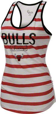 Chicago Bulls Women's White Longboard Tank Top