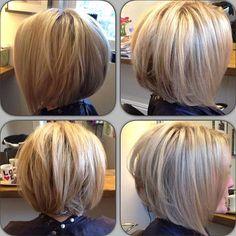17. Inverted Bob Hair Back View