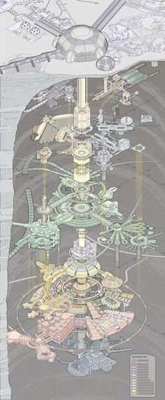 Netrunner Cutaway Diagram 1, Kirsten Zirngibl on ArtStation at https://www.artstation.com/artwork/EYXo2