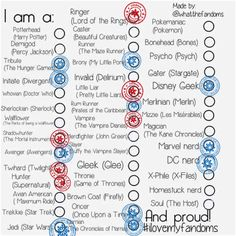 I am a demigod, Jedi, brony, mizzie, psycho, magician, potterhead, whovian, Runner, Oncer, Narnian, Disney geek
