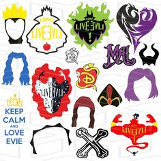 You will receive 1 ZIP: 18 AI 18 SVG files, 18 DXF files, 18 EPS files, 18 PNG files. The Descendants, Maleficent Drawing, Disney Decendants, Classic Disney Movies, Disney Drawings, Drawing Disney, Trunk Or Treat, Disney Villains, Unicorn Party