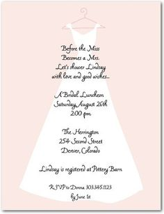 pretty and pink bridal shower invitation