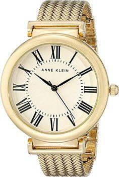 Anne Klein Women's AK/2134CRGB Analog Display Japanese Quartz Gold Watch -