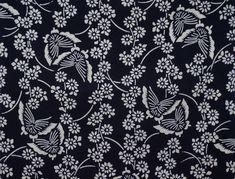 Kimono Fabric, Butterfly Pattern, Yukata, Japanese Kimono, Japan Fashion, Vintage Cotton, Vintage Fabrics, Chrysanthemum, Vintage Japanese